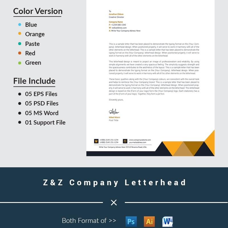 Z&Z Company Letterhead Corporate Identity Template