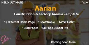 Aarian Construction Joomla Template