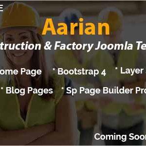 Aarian Construction Joomla Template