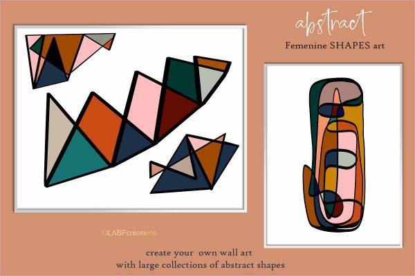 Abstract shape art clipart