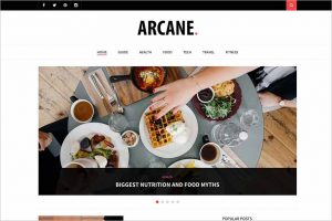 Arcane Modern WordPress Theme
