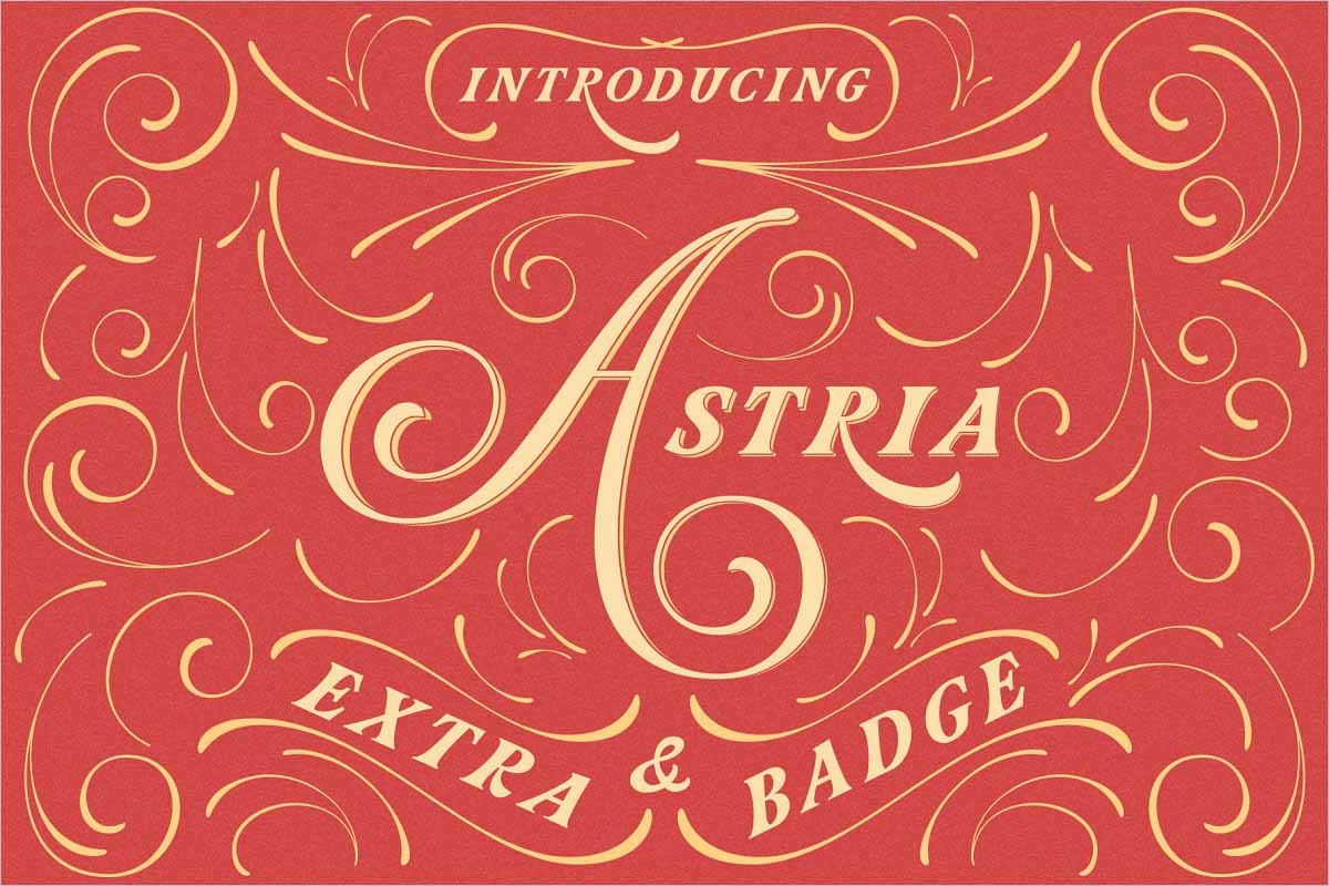 Astria A Hand Crafted Font
