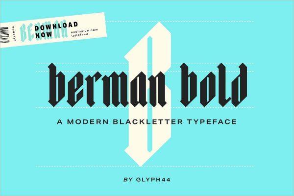 Berman Bold Blackletter Font