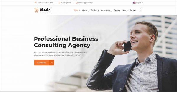 Bizzix Multipurpose Business HTML5 Template