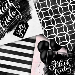 Black Friday Digital Paper Pack