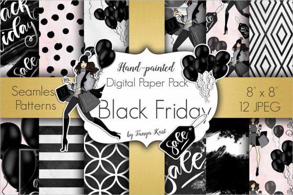 Black Friday Digital Paper Pack