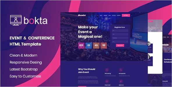Bokta Event Conference HTML5 Template