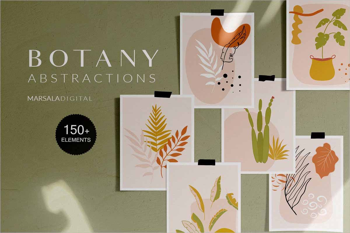 Botanical Abstract Collection