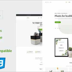 Botanical HTML5 Ecommerce Template