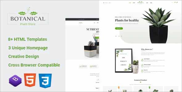 Botanical HTML5 Ecommerce Template