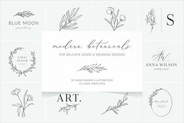 Botanical Illustration Logos