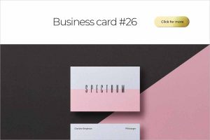 Business Card Bundle Template Mockup