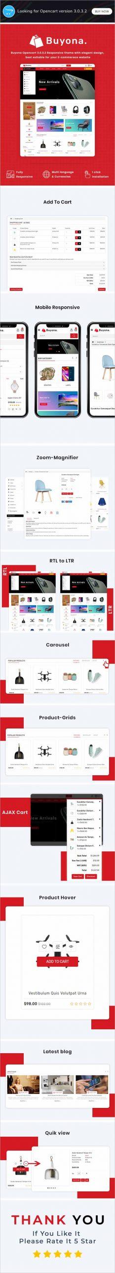Buyona Multipurpose Responsive Opencart Theme