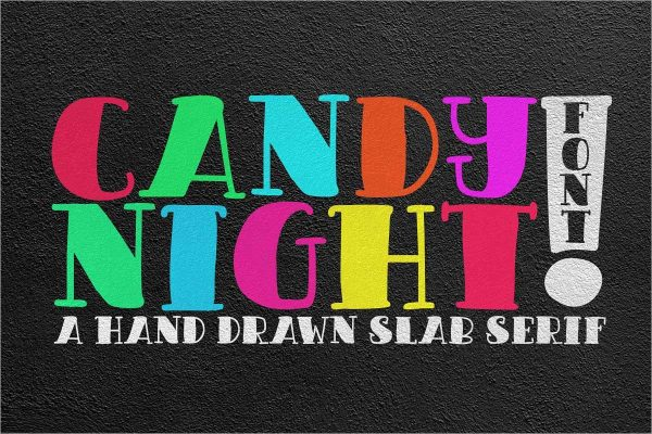 CANDY NIGHT FONT - Free Download