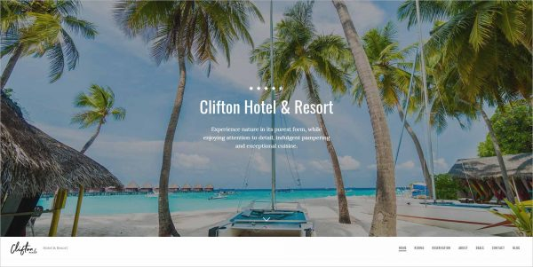 Clifton Hotel Booking Drupal Theme