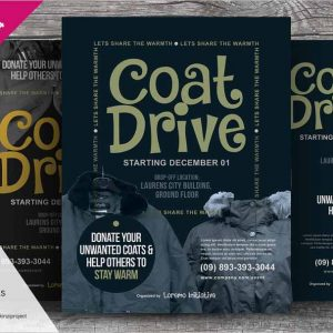 Coat Drive Flyer Templates
