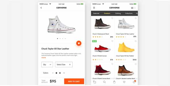 Converse product page model