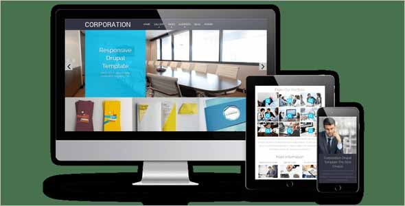 Corporation Drupal business theme