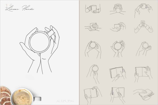 Cozy Mood Line Art Collection 0