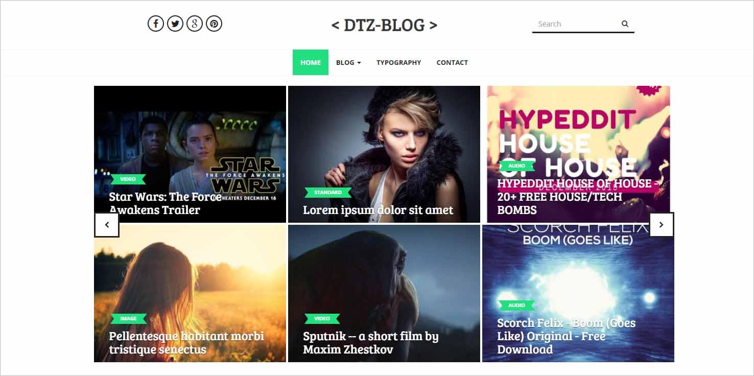 DTZ Blog A BlogMagazine Theme