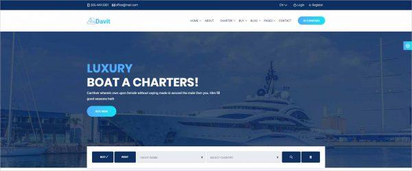 Davit Yacht Charter HTML Template
