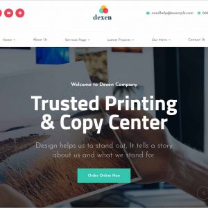 Dexen Printing Company WordPress Theme