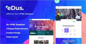 Edus Online Education HTML Template