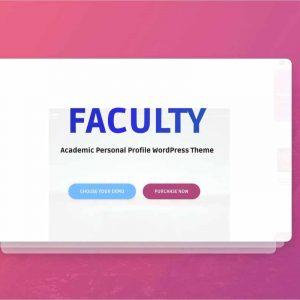 Faculty WordPress Theme