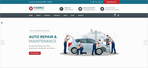 Fixomiz Car Repair HTML Template