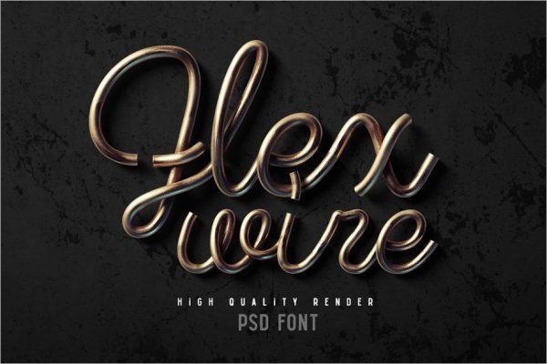 Flex wire PSD font