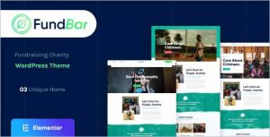 FundBar Fundraising Charity Theme