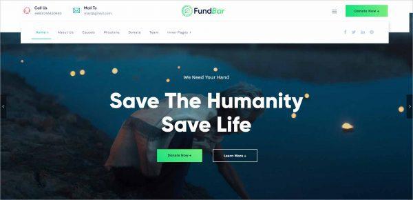 FundBar Fundraising Charity Theme