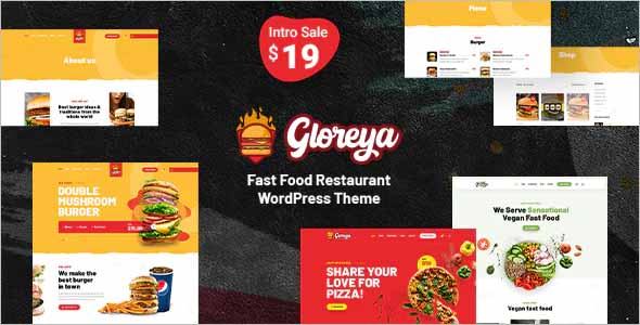Gloreya Fast Food WordPress Theme
