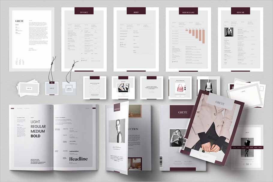 Grete Bundle Brochure Templates