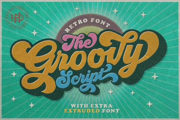 Groovy Retro Font