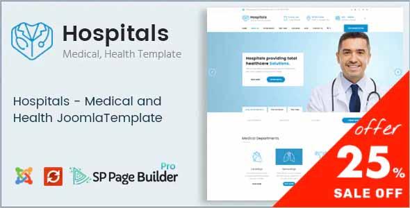 Hospitals Responsive Joomla Medical Template