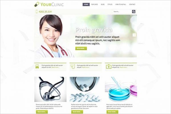Hot Clinic Joomla Template