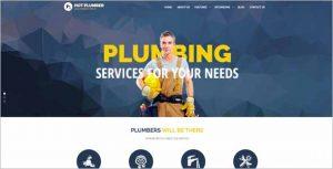 Hot Plumber Joomla Template