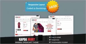 Kapda Mart Minimal OpenCart Theme
