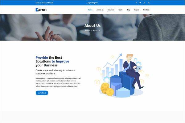 Karen Corporate Business Template
