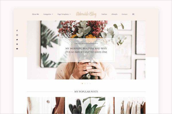 Adorable Lifestyle Blog Theme