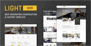 Lightwire Construction Drupal Theme