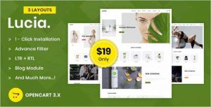 Lucia Multipurpose Opencart Theme