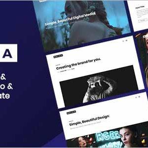 Malisia Clean Minimal Portfolio Agency Template