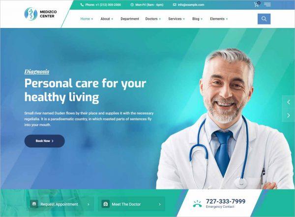 Medizco Medical Clinic WordPress Theme