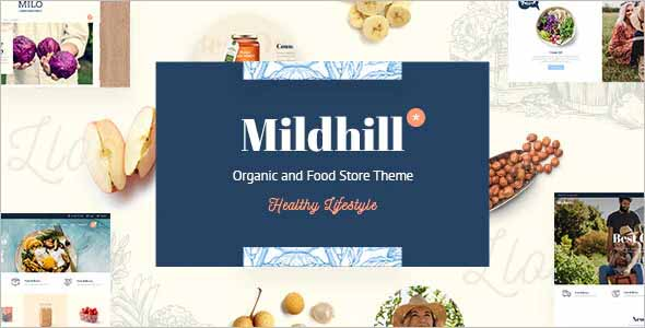 Mildhill Organic and Food Store Theme