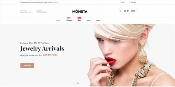Monsta Jewelry Shopify Theme