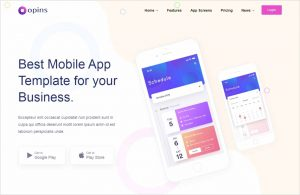 Opins App Landing WordPress Theme