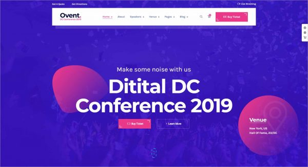Ovent Event Conference WordPress Theme