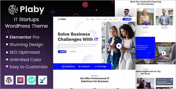 Plaby IT Startup WordPress Theme
